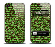 Наклейка на iPhone 4 - Louis Vuitton Green