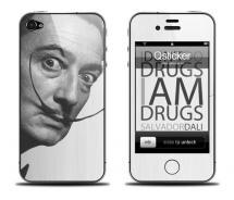 Наклейка для iPhone 4 - Salvador Dalli