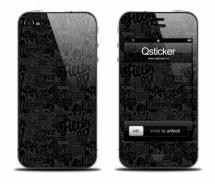 Наклейка для iPhone 4 - ClipArtBlack