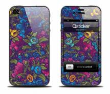 Наклейка для iPhone 4 - Flowers Violet