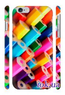 Заказать печать на чехле Qcase на iPhone 6 Plus в Киеве - Карандаши