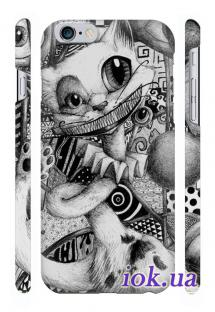 Отличная печать на чехле Qcase на iPhone 6 Plus в Киеве - Котик