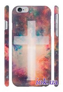 Качественная печать на чехле Qcase на iPhone 6 Plus в Киеве - Крест Космос