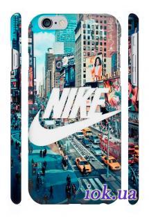 Брендовый пластиковый кейс Qcase для iPhone 6, Киев - Nike