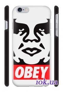 Качественная 3D печать на чехле Qcase на iPhone 6 Plus - Obey