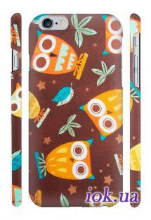 Защитный пластиковый кейс Qcase для iPhone 6, Киев - Сова 1