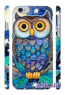 Классная 3D печать на чехле Qcase на iPhone 6 Plus, Киев - Сова