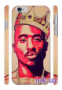 Дизайнерская накладка Qcase с печатью на iPhone 6 - Король
