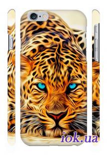 Дизайнерский чехол Qcase с печатью на iPhone 6 Plus в Киеве - Леопард