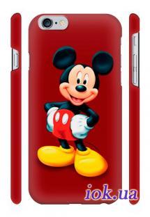 Прикольный чехол Qcase с печатью на iPhone 6 Plus в Киеве - Микки боксер