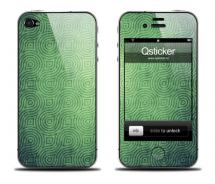 Наклейка на iPhone 4 - Pattern Green