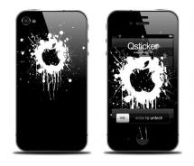 Наклейка на iPhone 4 - Apple Splashes