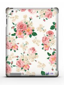 Накладка на iPad 2/3/4 - Qcase Flowers Retro