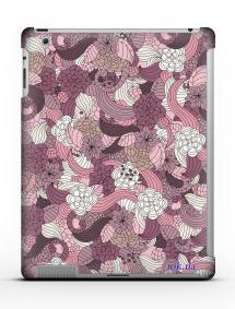 Накладка на iPad 2/3/4 - Qcase Flowers Pink
