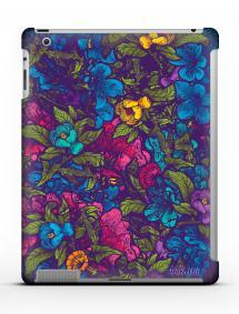 Накладка на iPad 2/3/4 - Qcase Flowers Violet