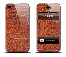 Наклейка Qsticker iPhone 4/4S - Alligator