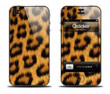Наклейка Qsticker на iPhone 4/4S - Leopard