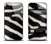 Наклейка Qsticker на iPhone 4/4S - Zebra