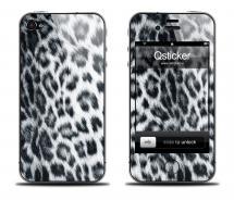 Наклейка Qsticker на iPhone 4/4S - Snow Leopard