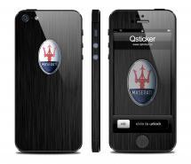 Винил Qsticker для iPhone 5 - дизайн Maserati Dark