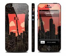 Винил на iPhone 5 - дизайн Oil