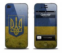 Наклейка iPhone 4s - флаг Украины