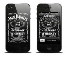 Наклейка для iPhone 4 - Jack Daniels