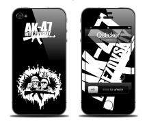 Наклейка на iPhone 4 - AK47