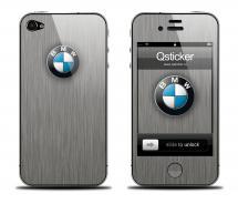 Наклейка на iPhone 4 - BMW Grey