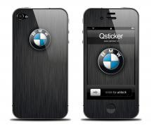 Наклейка на iPhone 4 - BMW Black