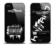 Наклейка на iPhone 4 - Баста ака Ноггано
