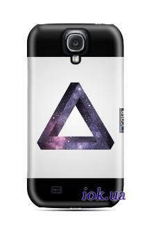 Чехол QCase на Galaxy S4 - space triangle