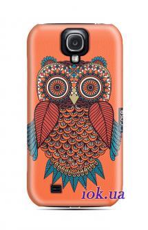 Чехол QCase на Galaxy S4 - owl