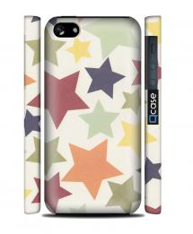 Чехол QCase на iPhone 5C - Color Stars