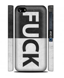Чехол QCase на iPhone 5C - Fuck