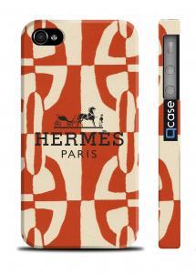 Брендовый чехол для iPhone 4/4S - Hermes