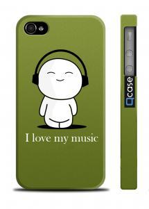 Прикольный чехол для iPhone 4/4S - Love Music