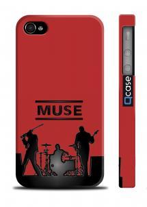 Яркий чехол на iPhone 4/4S - MUSE band