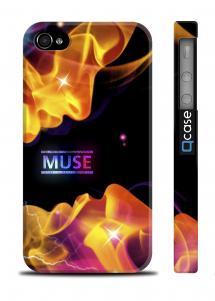 Стильный пластиковая накладка на iPhone 4/4S - MUSE Kiss