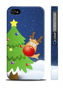 Чехол с елочкой на iPhone 4/4S - NY Deer