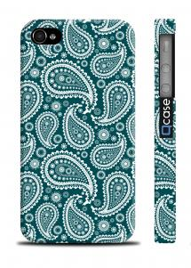 Чехол с оригинальным узором для iPhone 4/4S - Paisley Blue