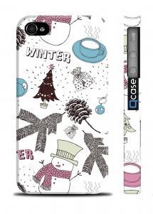 Чехол с зимним принтом для iPhone 4/4S - Winter