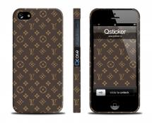 Пластиковый кейс LV для iPhone 5/5S - LV Brown