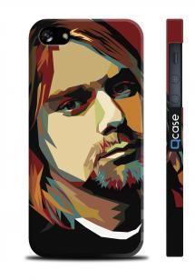 Чехол с 3D печатью для iPhone 5/5S - Kurt Cobain Art
