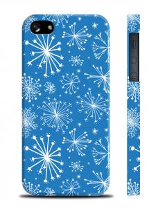 Чехол со снежинками для iPhone 5/5S - Snowflakes Blue
