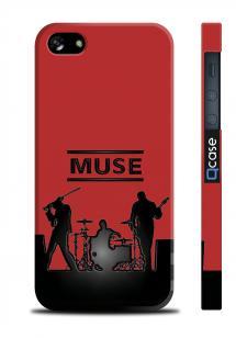 Чехол ярким с принтом для iPhone 5/5S - MUSE Band