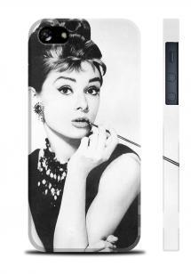 Изящный чехол с фото Одри Хепберн для iPhone 5/5S