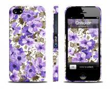 Пластиковый кейс QCase для iPhone 5/5S - Fialki