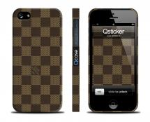 Чехол с шахматным принтом  LV для iPhone 5/5S - LV Dark Squares
