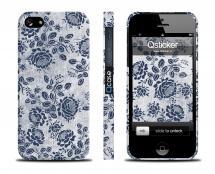 Чехол с цветочным принтом  LV для iPhone 5/5S - Blue Roses